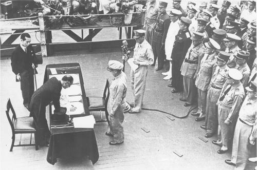 2 сентября 1945 г. Подписание Акта о капитуляции. Источник.Архив внешней политики РФ, фотофонд